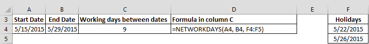 NETWORKDAYS Function - EXCEL
