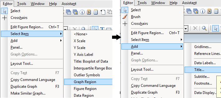 Minitab - Add title to layout tool graph