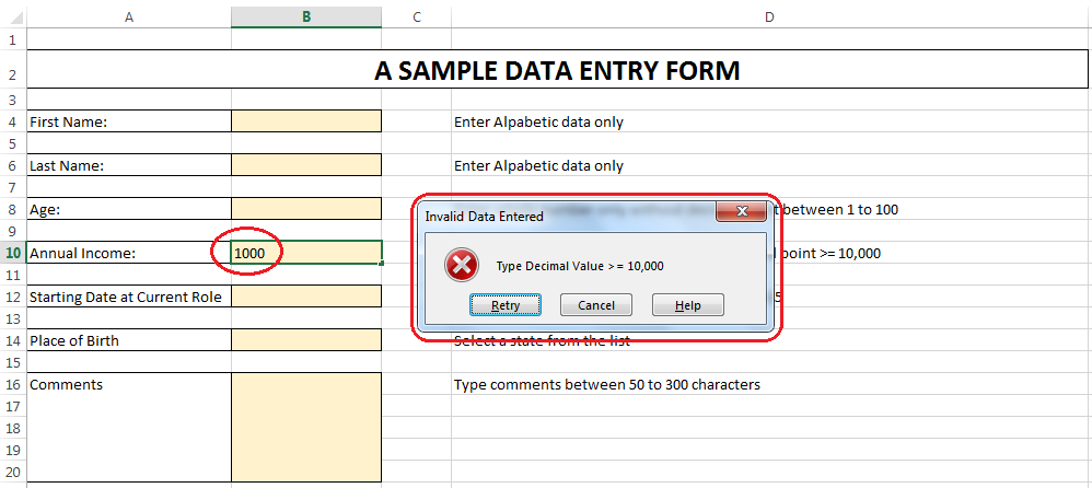 8 tips to master data validation in Excel - Master Data Analysis