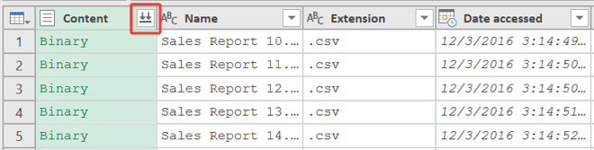 Import all CSV files in a folder into Excel - Master Data