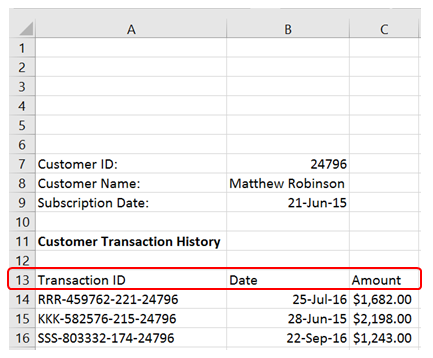 Import excel files with a dynamic starting row - Master Data