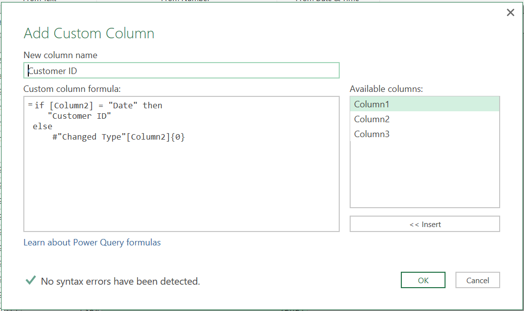 Import specific cells from Excel files - Master Data Analysis