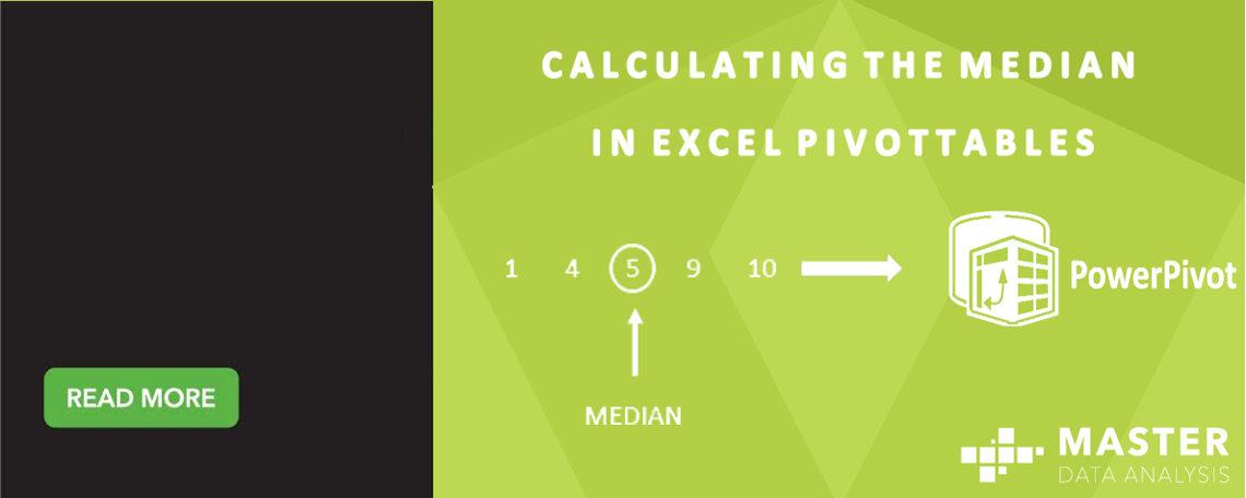 Calculating the median in Excel PivotTables